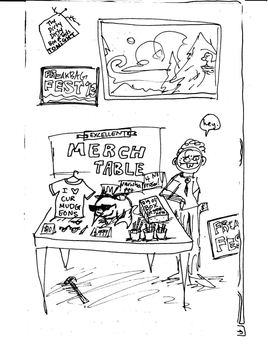 merch table