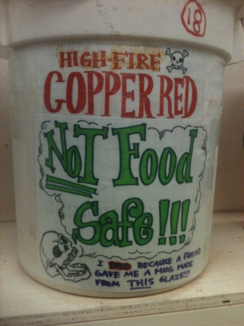 High Fire Copper Red Glaze