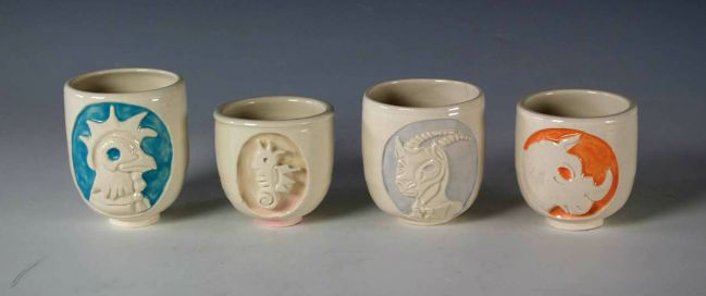 Four Animal Cups