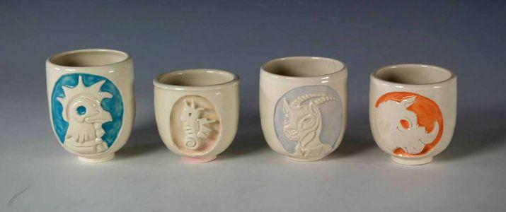 Four Animal Cups