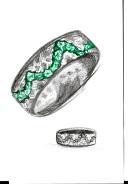 Emerald ring Lightning (Gavin Escolar design)