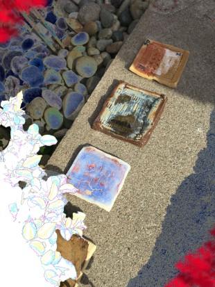 Tiles in parents' backyard