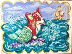 The Little Mermaid Corgi