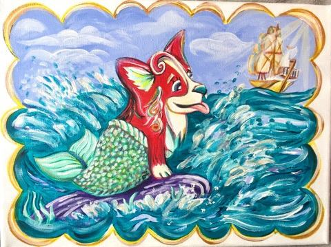 The Little Mermaid Corgi